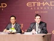 Ouverture d'une ligne aérienne HCM-Ville - Abu Dhabi