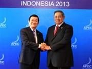 APEC: le président Truong Tan Sang est arrivé à Bali