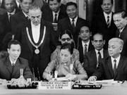 Célébration du 40e anniversaire de la signature des accords de Paris