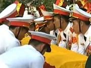 La cérémonie d'inhumation du général Vo Nguyen Giap