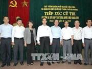 Le Premier ministre rencontre l'électorat de Hai Phong