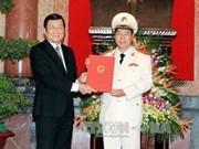 Promotion d'un vice-ministre de la Sécurité publique