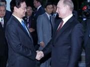 Entrevue Nguyen Tan Dung-Vladimir Poutine