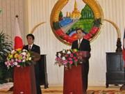 Le Premier ministre japonais en visite au Laos