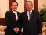 Le vice-Premier ministre laotien reçoit la délégation de la VNA