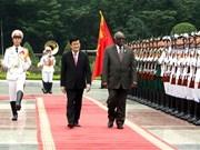 Cérémonie d'accueil officiel du président namibien