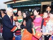 Le secrétaire général du PCV en visite d'Etat en Inde