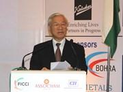 Nguyen Phu Trong au Forum d'entreprises d'Inde