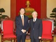 Nguyen Phu Trong reçoit la délégation du Parti communiste chinois