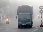 Le brouillard recouvre le delta du Mékong
