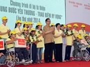 Le Premier ministre participe à la 1ère marche pour les handicapés