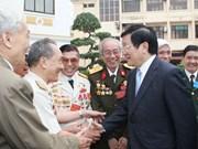 Tournée de travail du président Truong Tân Sang à Vinh Phuc