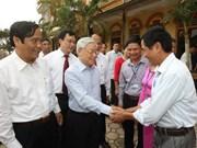 Le secrétaire général Nguyen Phu Trong  à Hà Tinh