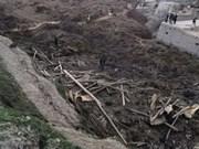 Glissement de terrain : message de sympathie à l'Afghanistan