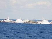 Les navires des Garde-côtes protègent la sécurité des pêcheurs
