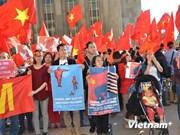 Manifestation en France contre les actes illégaux de la Chine