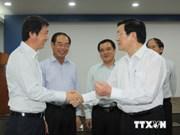 Le président du Vietnam s'est rendu visite aux entreprises à Binh Duong