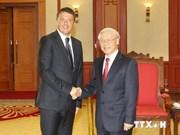 Nguyen Phu Trong reçoit le Premier ministre italien