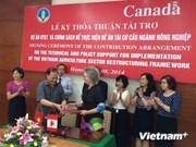 Aide canadienne pour la restructuration de l'agriculture