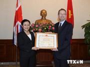 L'ambassadeur du Royaume-Uni au Vietnam à l'honneur