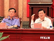 Le chef de l'Etat travaille avec le Parquet populaire suprême