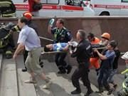 Métro à Moscou : Message de sympathie à la Russie