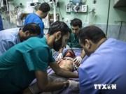 Protestation contre les violences visant la population de la bande de Gaza