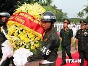 Hommage aux volontaires tombés au champ d'honneur au Cambodge