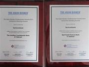 La Techcombank reçoit deux prix honorables