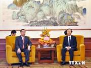 L'envoyé spécial du chef du PCV visite la Chine