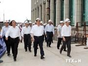 Le PM inspecte le chantier du bâtiment de l'AN