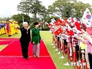 Le leader du PCV termine sa visite en République de Corée