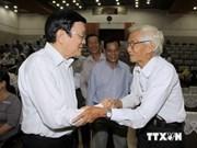 Le chef de l'Etat à la rencontre des électeurs de HCM-Ville