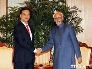 Le Premier ministre rencontre des dirigeants indiens