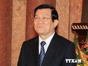 Le président Truong Tan Sang arrive à Pékin pour participer à l'AELM 22