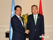 Rencontre entre le PM vietnamien et le secrétaire général de l'ONU