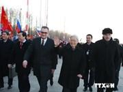 Le chef du Parti entame sa visite officielle en Russie
