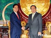 Entrevue entre le PM vietnamien et le président laotien