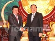 Le vice-Premier ministre Pham Binh Minh en visite au Laos