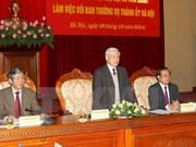 Hanoi devra être exemplaire dans l'élaboration des documents du Parti