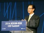 Le PM au Sommet des chefs d'entreprise ASEAN-République de Corée