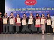 La compagnie de peintures KOVA honore des personnes exemplaires