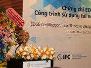 Design : remise du certificat EDGE à des bâtiments du Vietnam