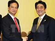 Félicitations au Premier ministre japonais Shinzo Abe
