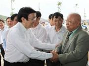 Le Président en visite de travail à Khanh Hoa