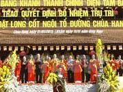 Le chef du FPV inaugure le sanctuaire de la pagode Hang