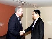 Davos : le vice-PM Pham Binh Minh rencontre des dirigeants étrangers