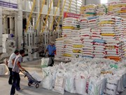 Exportations de riz et produits aquatiques du delta du Mékong en janvier