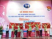 Jeunes : concours des sciences du marxisme-léninisme et de la pensée Ho Chi Minh