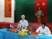 Le leader du PCV en tournée dans la province de Trà Vinh